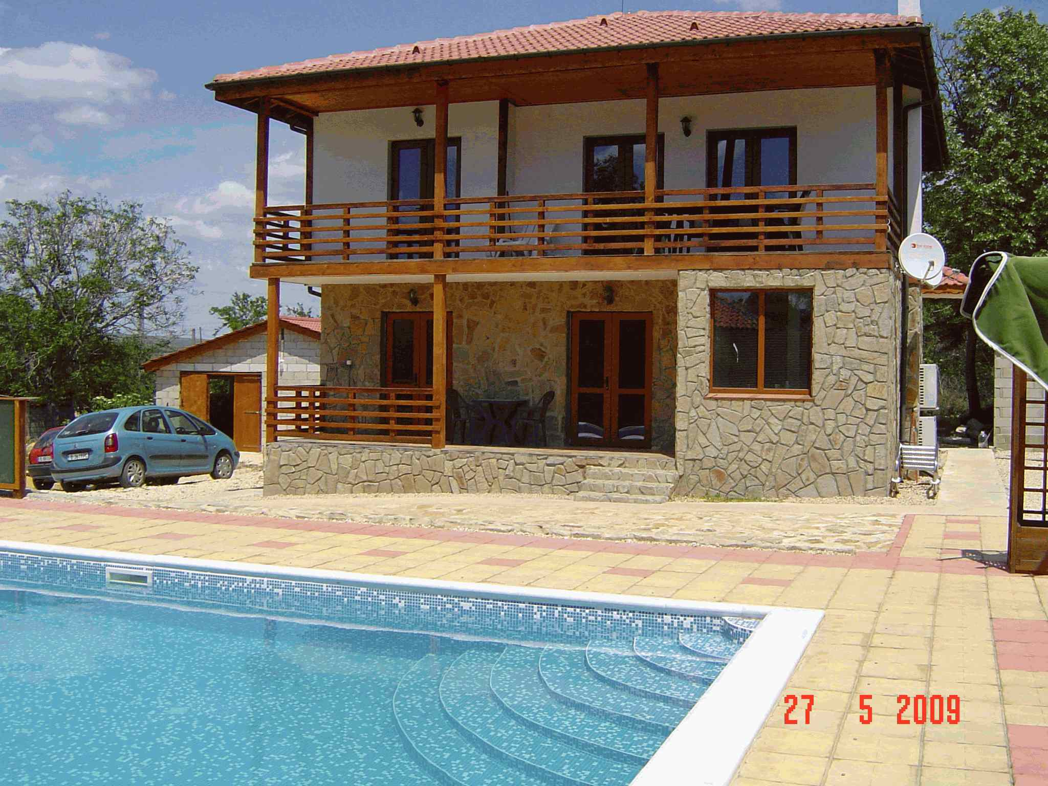 Our villa with pool.
